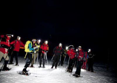 Dienstag: Stirnlampentour in die Abendstimmung am Imberg, mit Hütteneinkehr und Rodeln