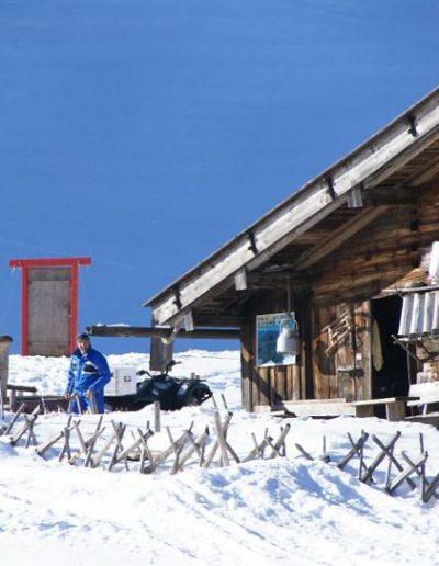 Schneeschuhwadern Oberhalb Des Grossen Alpsee
