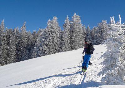 Skitouren Bregenzer Wald Aufsteig Koppachstein 2019